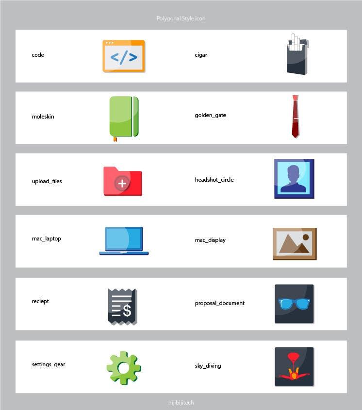 Konkurrenceindlæg #14 for Flat Icon set