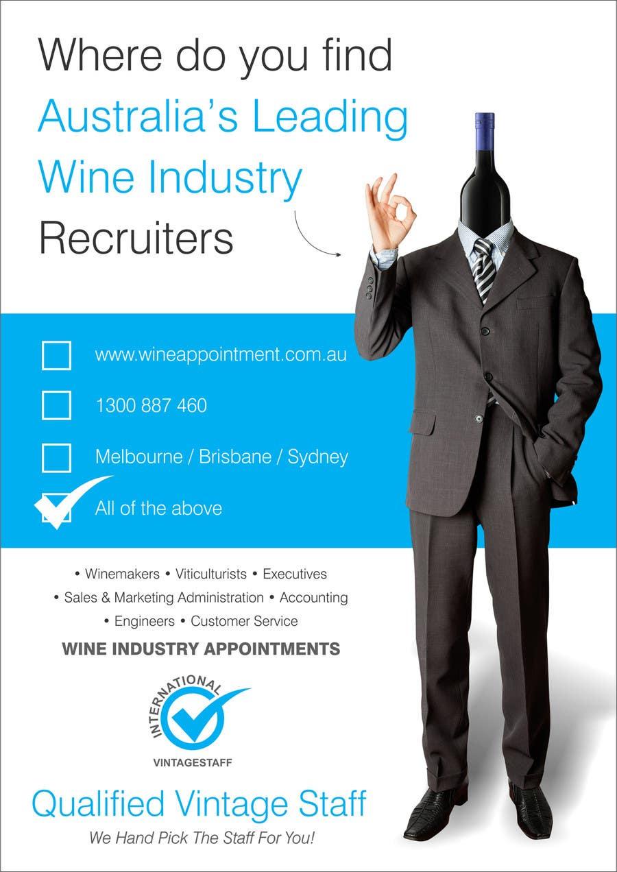 Kilpailutyö #11 kilpailussa Design an Advertisement for recruitment into the wine industry