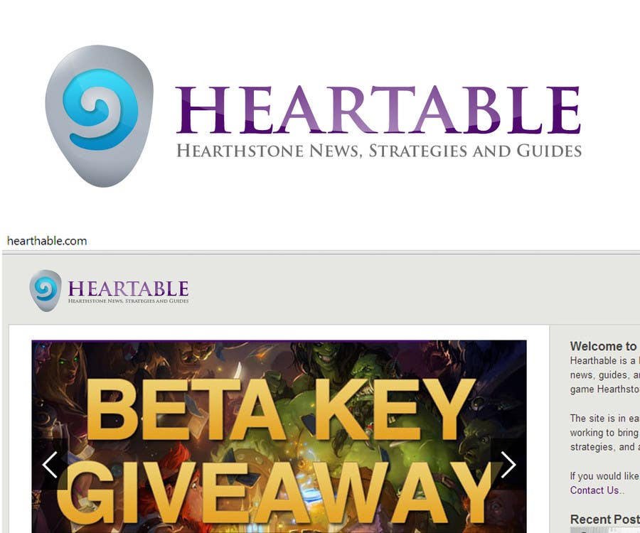 Proposition n°26 du concours Design a Logo for Hearthstone Fan Site