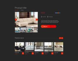 Nro 74 kilpailuun Design a single product page mockup for furniture ecommerce käyttäjältä bull323