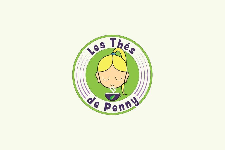 Penyertaan Peraduan #                                        14                                      untuk                                         Logo for a young girl home grown herbal tea compagny (les Thés de Penny)