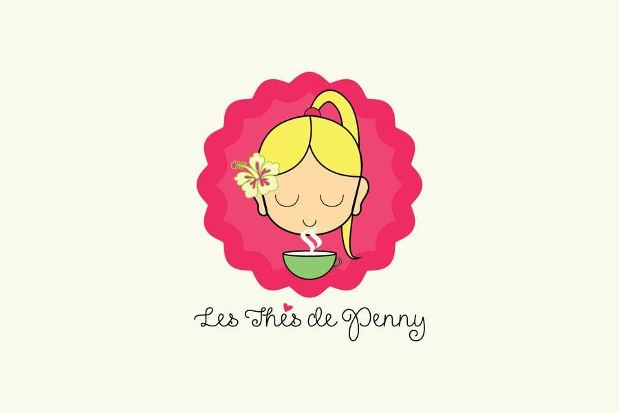 Penyertaan Peraduan #                                        54                                      untuk                                         Logo for a young girl home grown herbal tea compagny (les Thés de Penny)