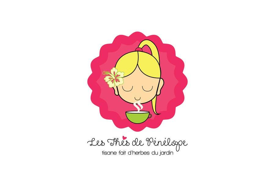 Penyertaan Peraduan #                                        71                                      untuk                                         Logo for a young girl home grown herbal tea compagny (les Thés de Penny)