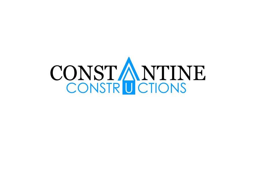 Kilpailutyö #254 kilpailussa Logo Design for Constantine Constructions