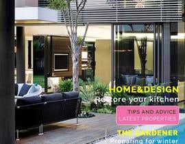 Nro 13 kilpailuun Design me a MODERN front cover for a real estate focused magazine... käyttäjältä CandyHorse
