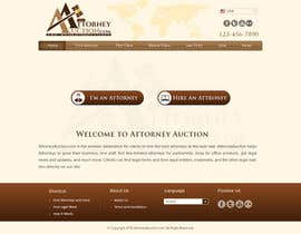 #27 para Design a Website Mockup for AttorneyAuction.com por atularora