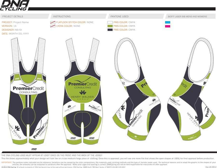 Proposition n°7 du concours Full Cycling Kit/Jersey Design