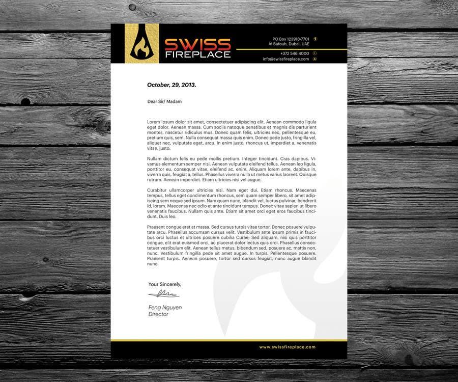 Penyertaan Peraduan #28 untuk Letterhead Design (Only a regular A4 Page) for my company