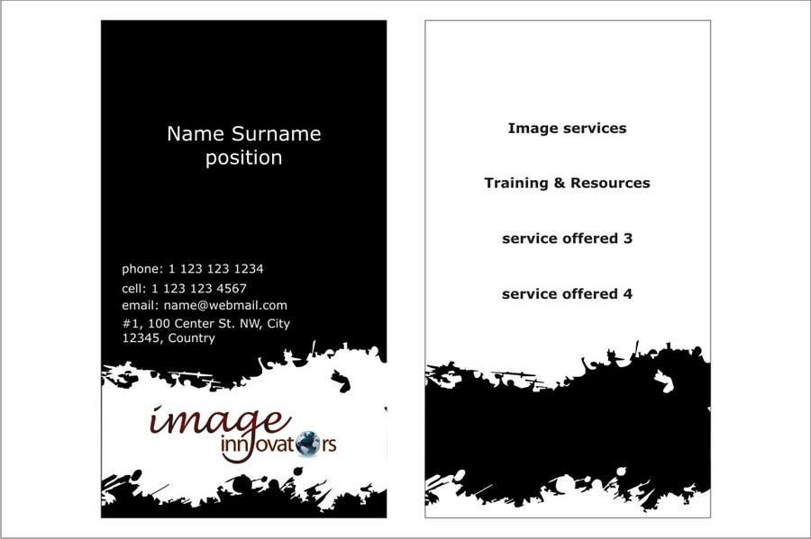 Konkurrenceindlæg #61 for Business Card Design for Image Innovators