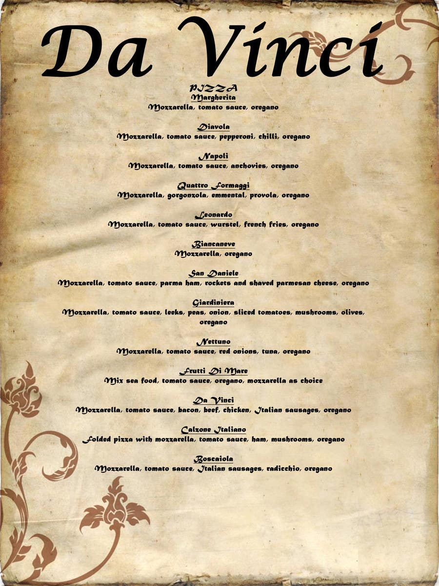 #7 for Menu for Italian Restaurant by lorna090