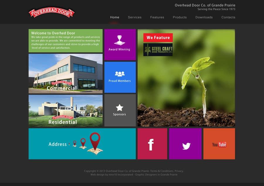 Inscrição nº 23 do Concurso para Design a Website Mockup for www.overheaddoorgp.com