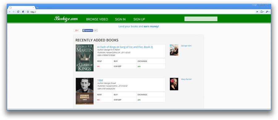 Penyertaan Peraduan #61 untuk Redesign Bookizo.com Homepage
