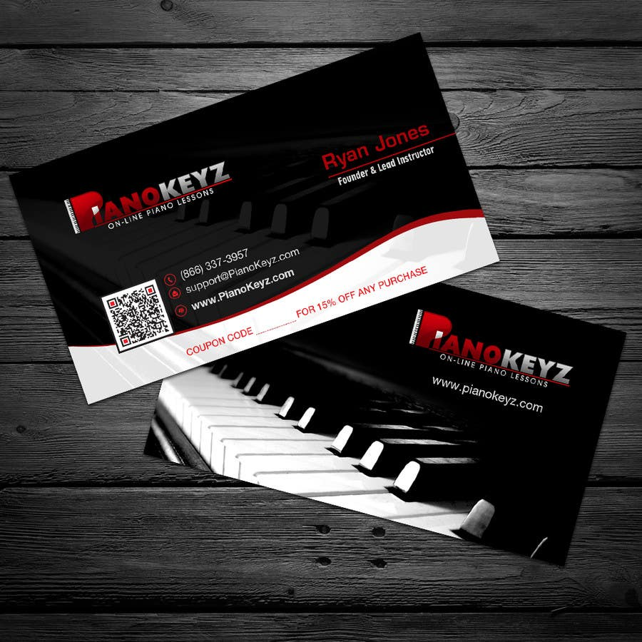 Entry #42 by cucgachvn for Design a Business Card for PianoKeyz, an ...