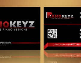 #5 for Design a Business Card for PianoKeyz, an online membership site for piano lessons af linokvarghese