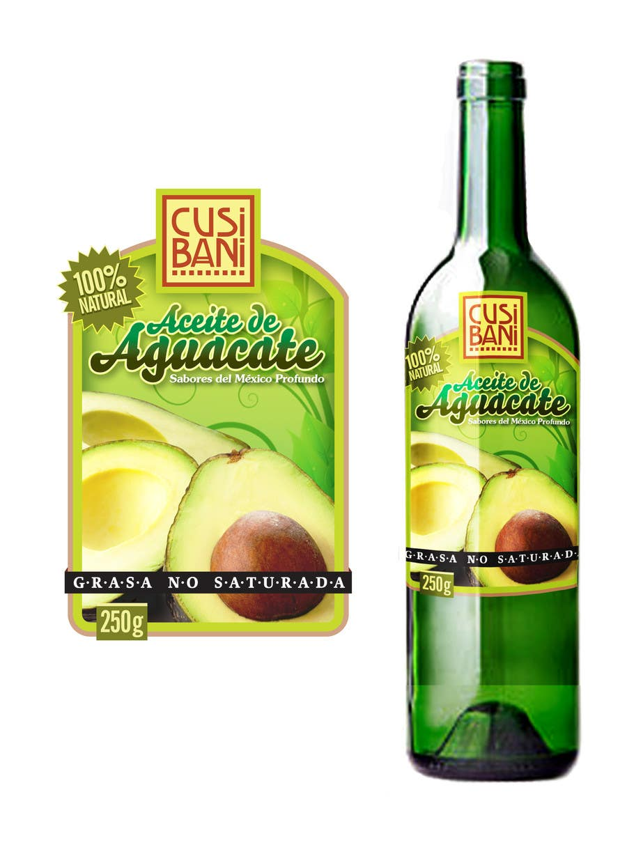 Contest Entry #17 for Etiqueta para botella de aceite de aguacate.