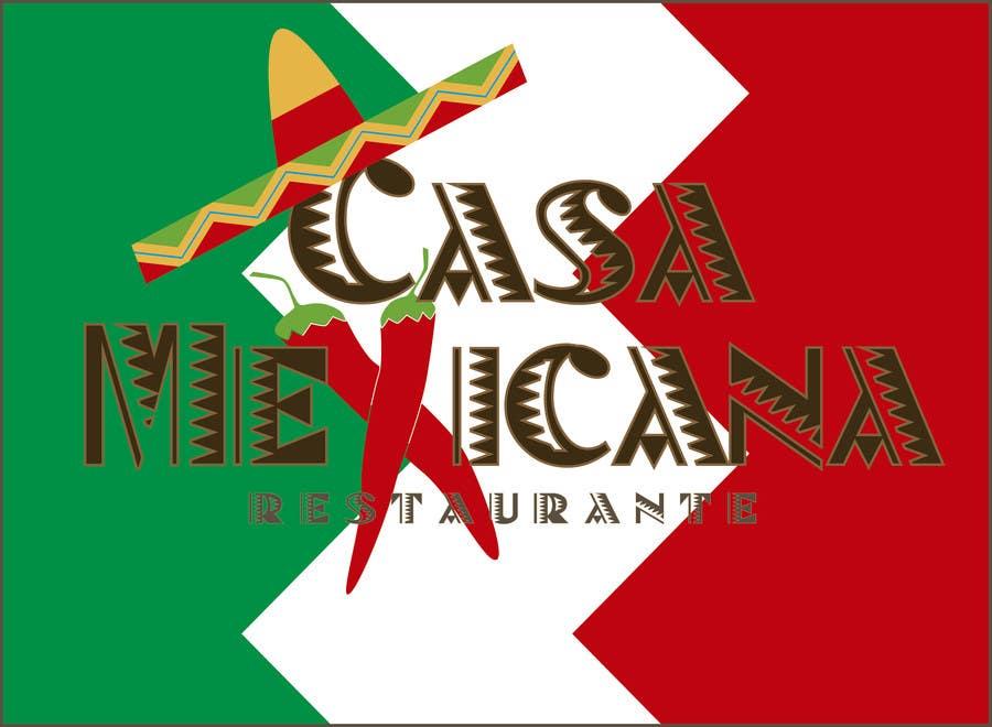 Penyertaan Peraduan #8 untuk logo para pequeño restaurante mexicano