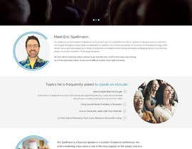 Nro 15 kilpailuun Website design for public speaker käyttäjältä zaxsol