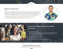 Nro 14 kilpailuun Website design for public speaker käyttäjältä syrwebdevelopmen