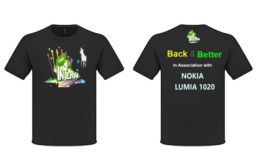 #20 for Design a T-Shirt for THE INTERN BUSINESS REALITY SHOW by cyber3c