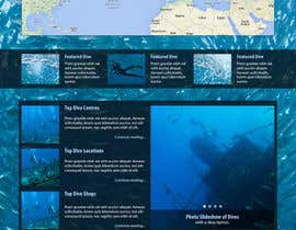 #27 for Design a Wordpress Mockup for Dive Adviser by BrieZ