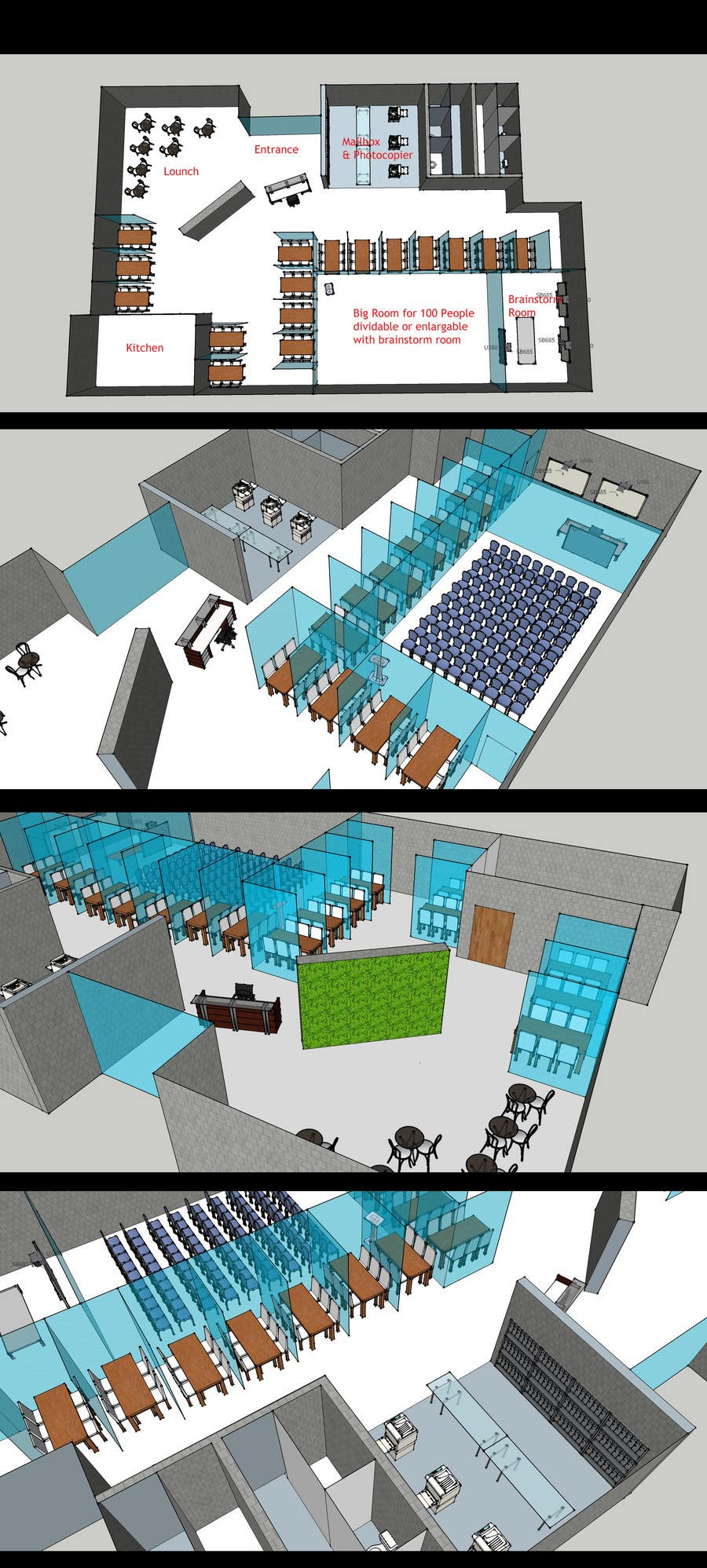 Bài tham dự cuộc thi #                                        18                                      cho                                         Architectural Floorplan Layout for PolarPointe Business Cafe