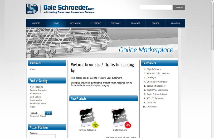 Contest Entry #                                        6                                      for                                         Design a Banner for Dale Schroeder.com Online Store