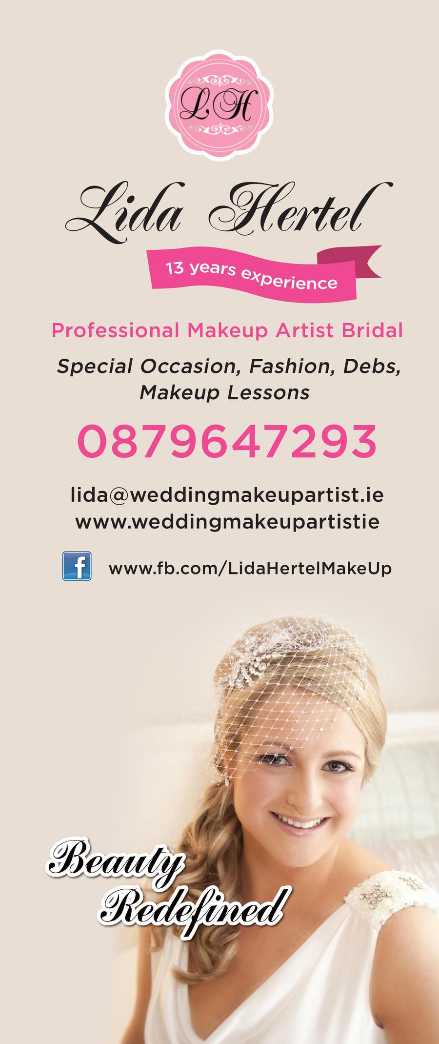 Penyertaan Peraduan #                                        3                                      untuk                                         Design a Pull-Up Banner for Makeup Artist