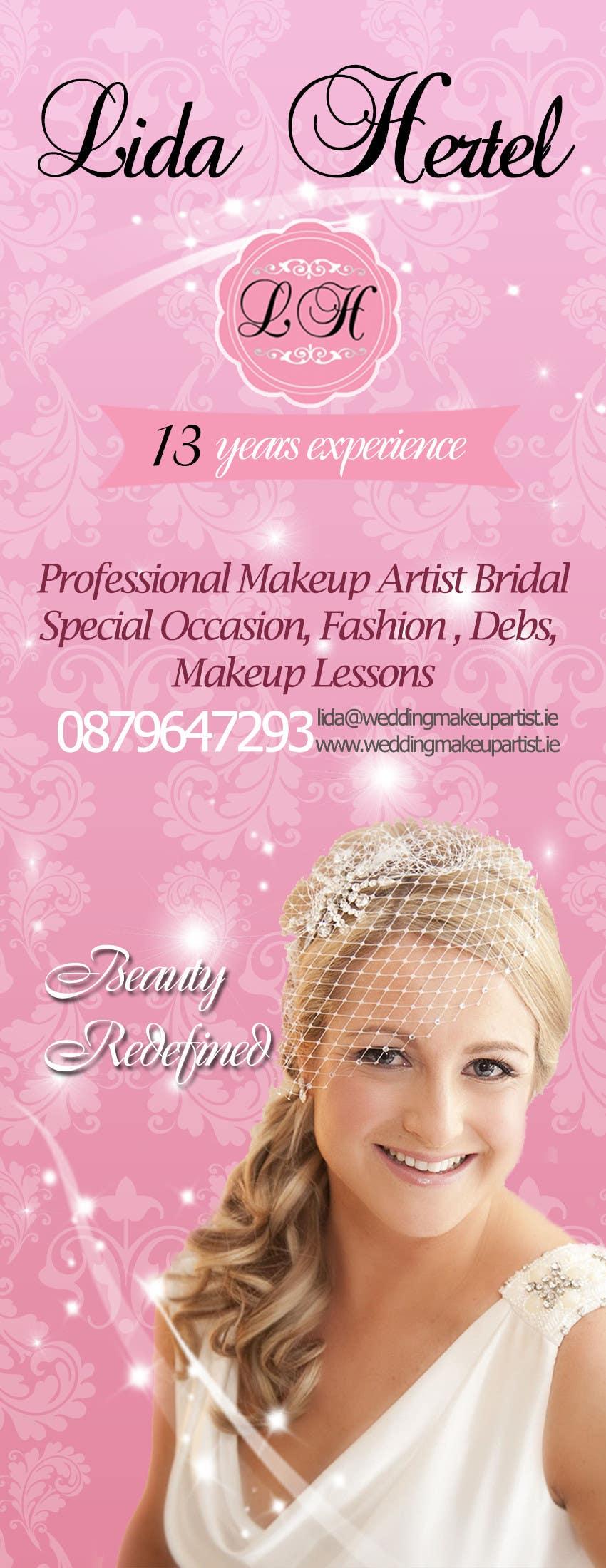 Penyertaan Peraduan #                                        16                                      untuk                                         Design a Pull-Up Banner for Makeup Artist