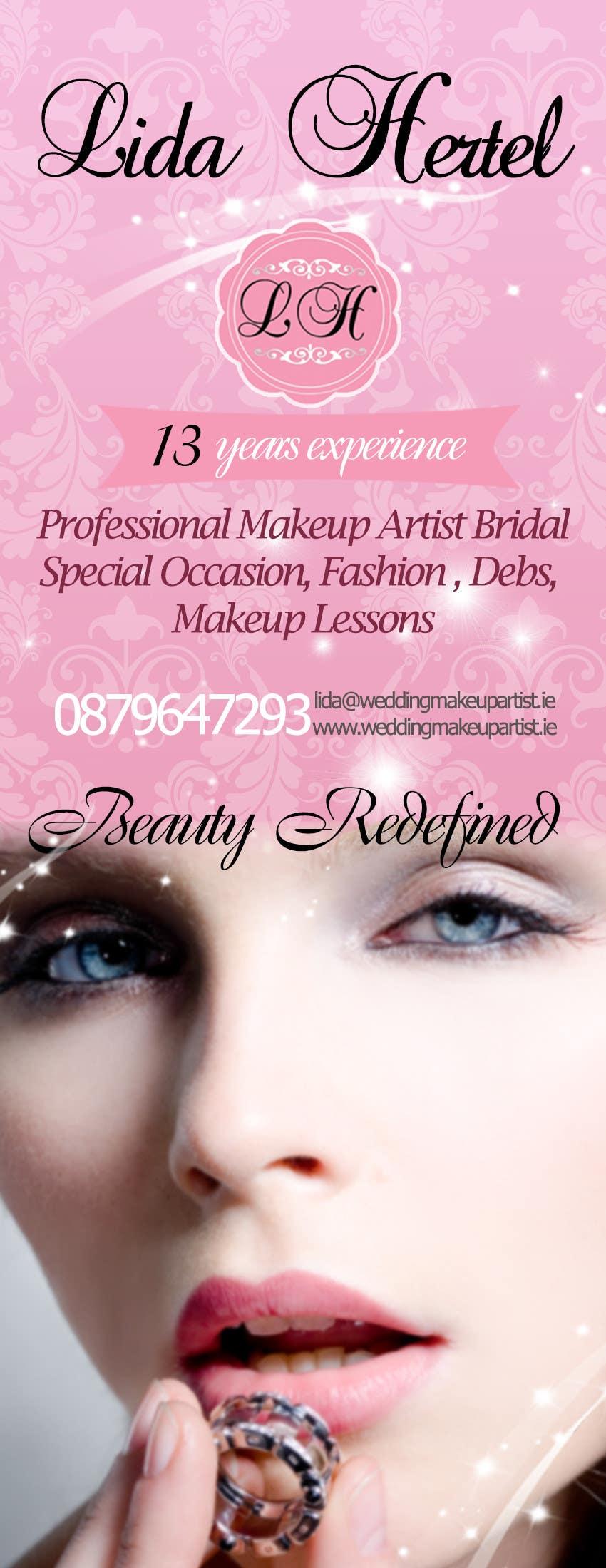 Penyertaan Peraduan #                                        17                                      untuk                                         Design a Pull-Up Banner for Makeup Artist