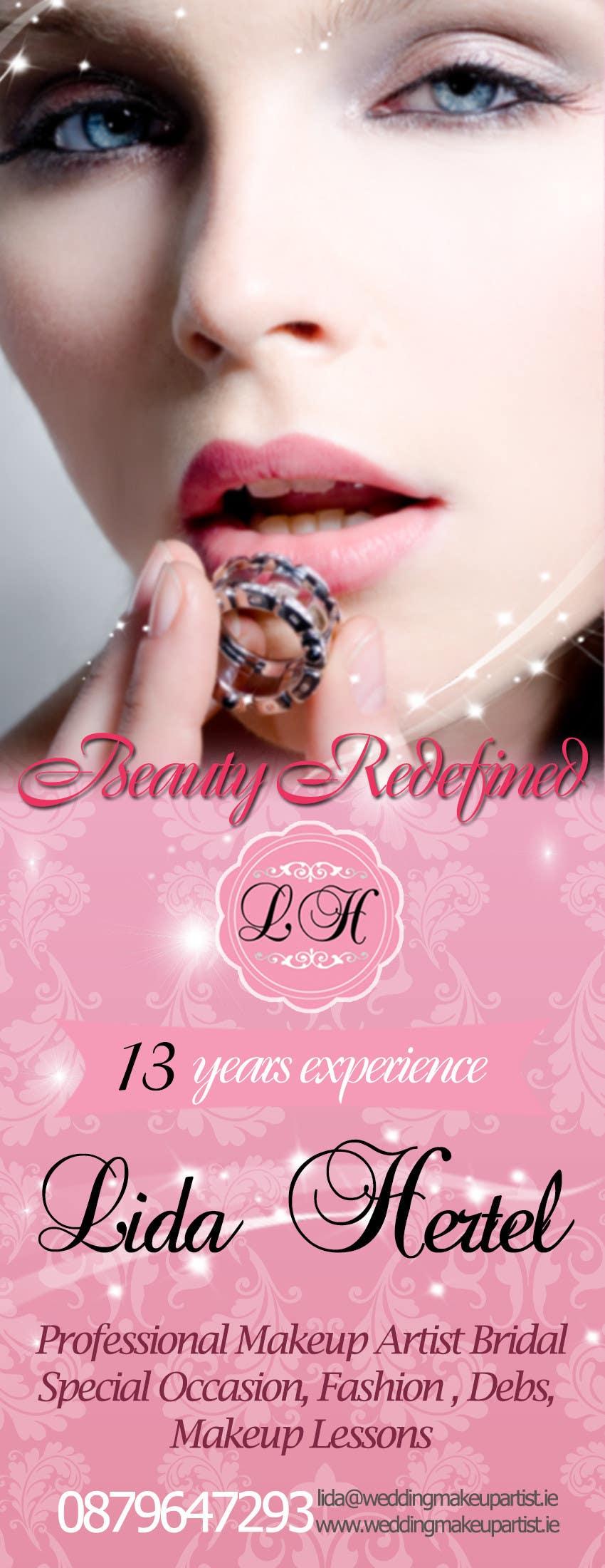 Penyertaan Peraduan #                                        18                                      untuk                                         Design a Pull-Up Banner for Makeup Artist