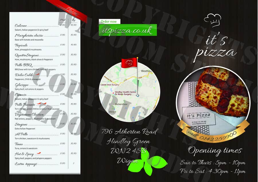 Entry 6 By Plananat For Redesign Takeaway Menu Freelancer