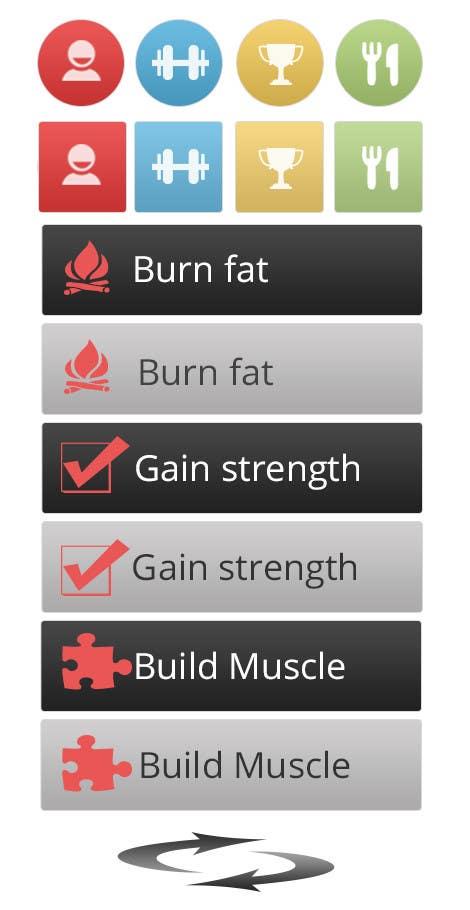 Penyertaan Peraduan #3 untuk Design some Icons for a fitness app - repost