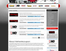 #29 for Design a Website Mockup for 4WheelsCoupon.com af MagicalDesigner