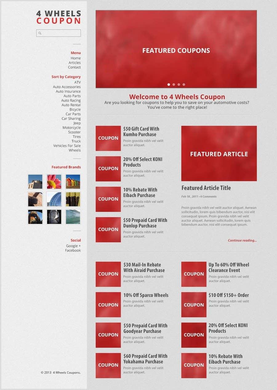 Inscrição nº                                         30                                      do Concurso para                                         Design a Website Mockup for 4WheelsCoupon.com