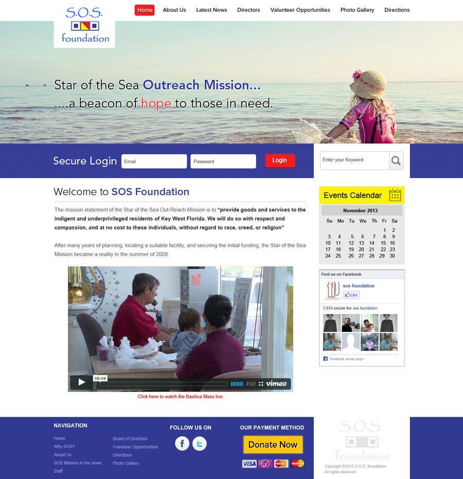 Penyertaan Peraduan #15 untuk Design a Website Mockup for fast growing nonprofit food pantry