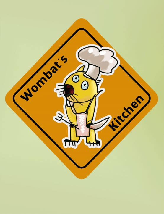 Proposition n°40 du concours Restaurant Logo Design - drawing a wombat whos a chef!