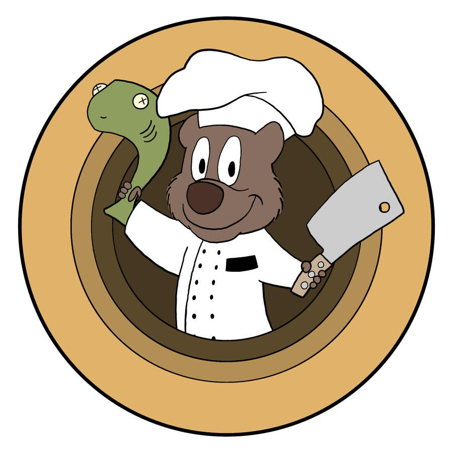 Proposition n°48 du concours Restaurant Logo Design - drawing a wombat whos a chef!
