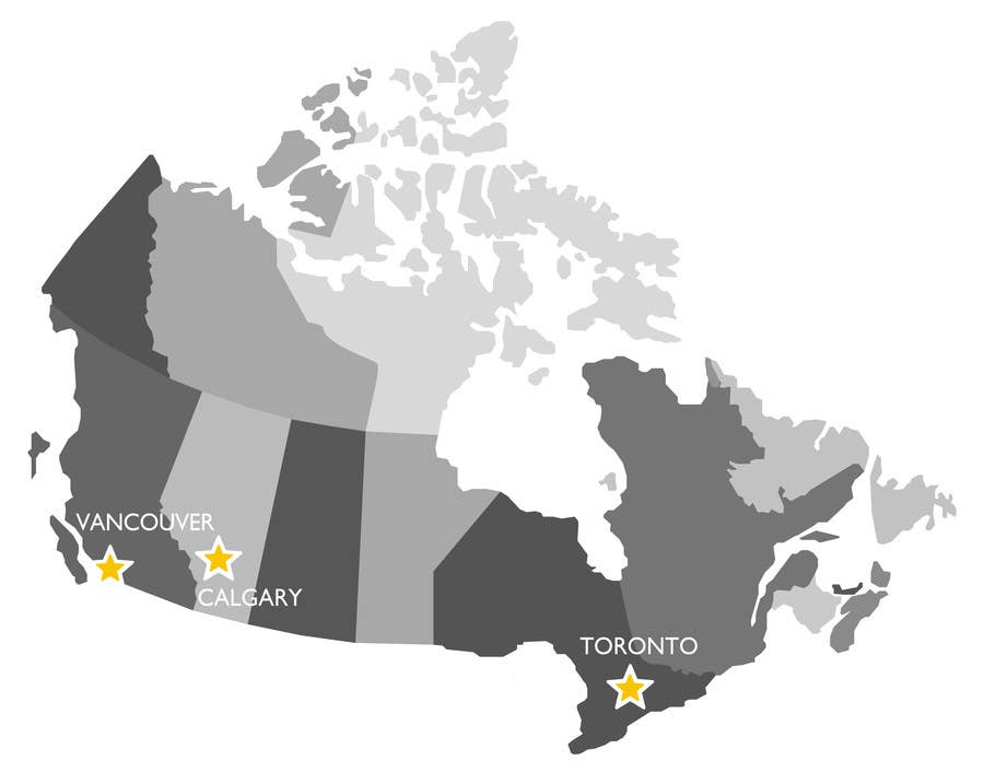 Small Map Of Canada.Entry 3 By Janeamandasee For Create A Locations Map Of Canada With