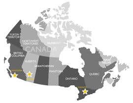 janeamandasee tarafından Create a Locations Map of Canada With 3 Points için no 4
