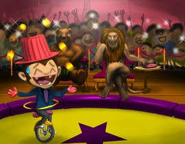 #21 для Illustration Design for Childrens Book - Circus Scene от hotpinkscorpion