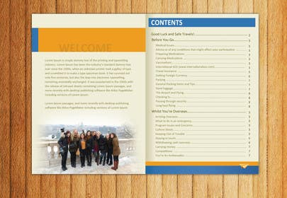#26 for Show us what you can do! Design a cover (and example content page/s) for our pre-departure brochure by mydZnecoz