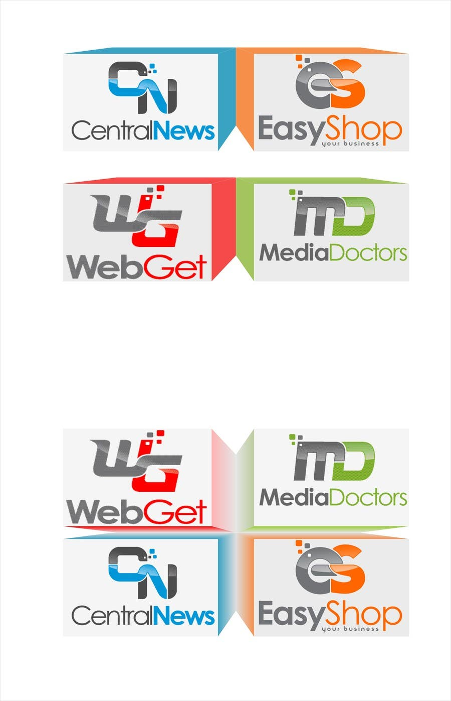 #3 for Visual style for displaying logos by andreisiminea