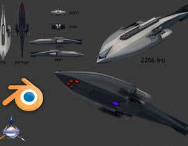 nº 1 pour Do some 3D Modelling for Sci-fi video Game Stealth ship par JuanG3D