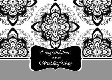#8 for Design some Stationery for a Wedding Congratulations Card by luciacrin