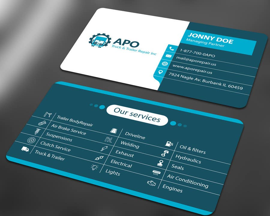 Design a Logo and Business Cards for Truck & Trailer Repair ...
