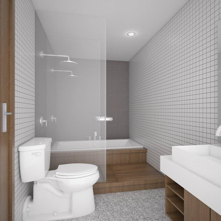 . Entry  4 by harryhenryy for 4 x Bathroom interior Design   Freelancer