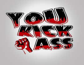 "TSZDESIGNS tarafından Design a Logo for ""You Kick Ass"" için no 72"
