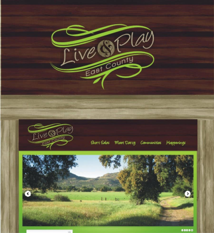 Bài tham dự cuộc thi #113 cho Live and Play East County           / logo design for website