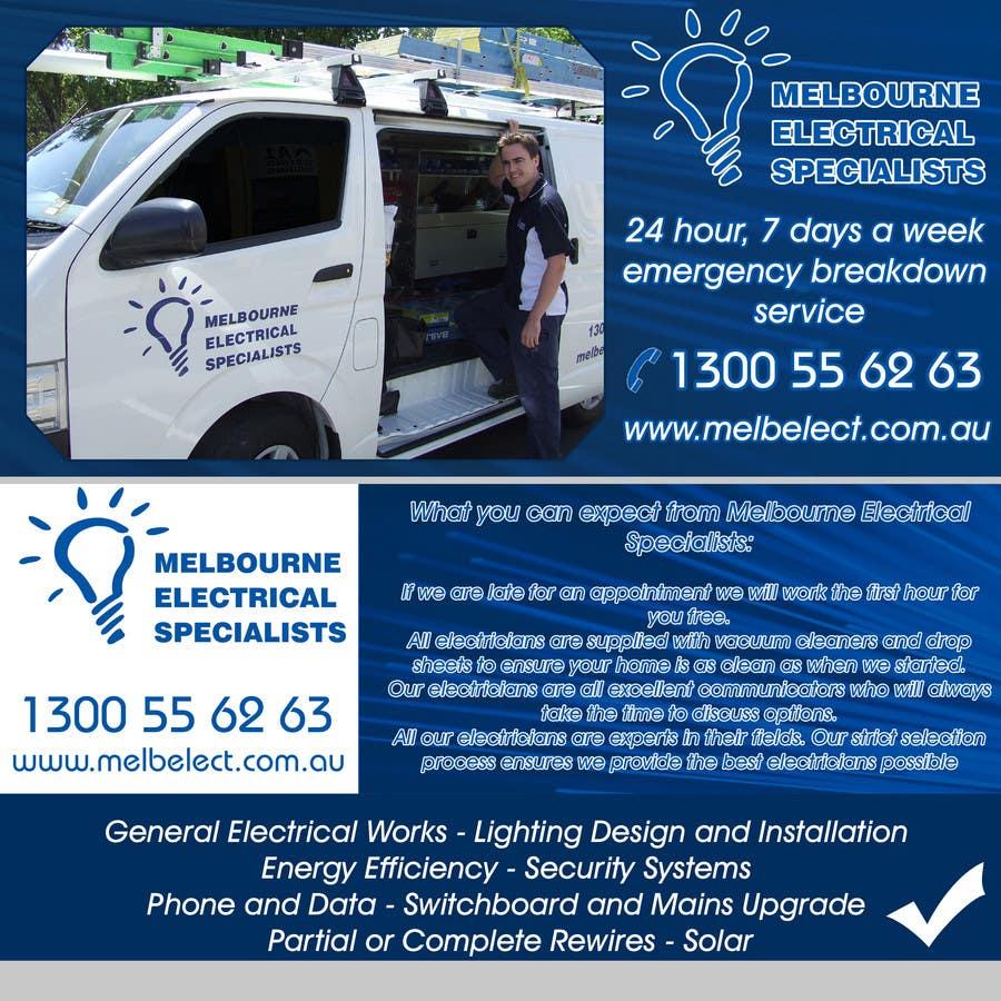Penyertaan Peraduan #7 untuk Graphic Design for Melbourne Electrical Specialists