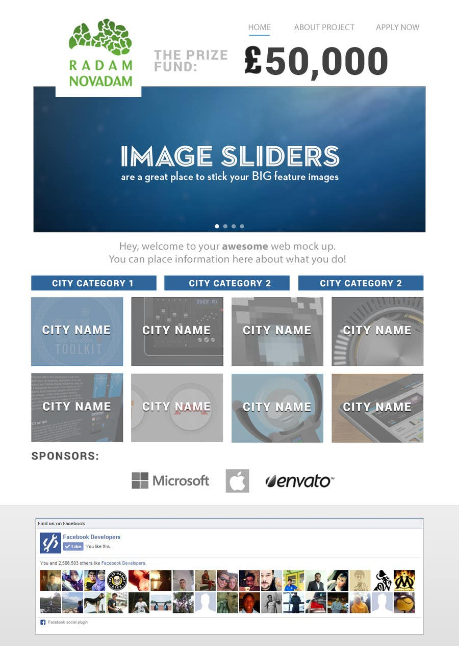 #4 for Design for website front page by junaidiey